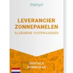 Algemene Voorwaarden Leverancier Zonnepanelen (Nederlands)